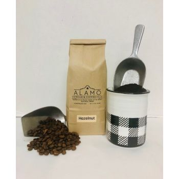 Hazelnut Coffee from Alamo Pecan & Coffee in San Saba, TX