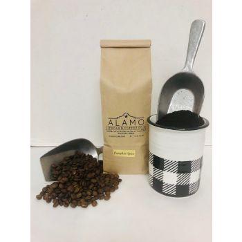 Pumpkin Spice coffee from Alamo Pecan & Coffee in San Saba, TX