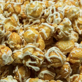 White Drizzled Caramel Popcorn
