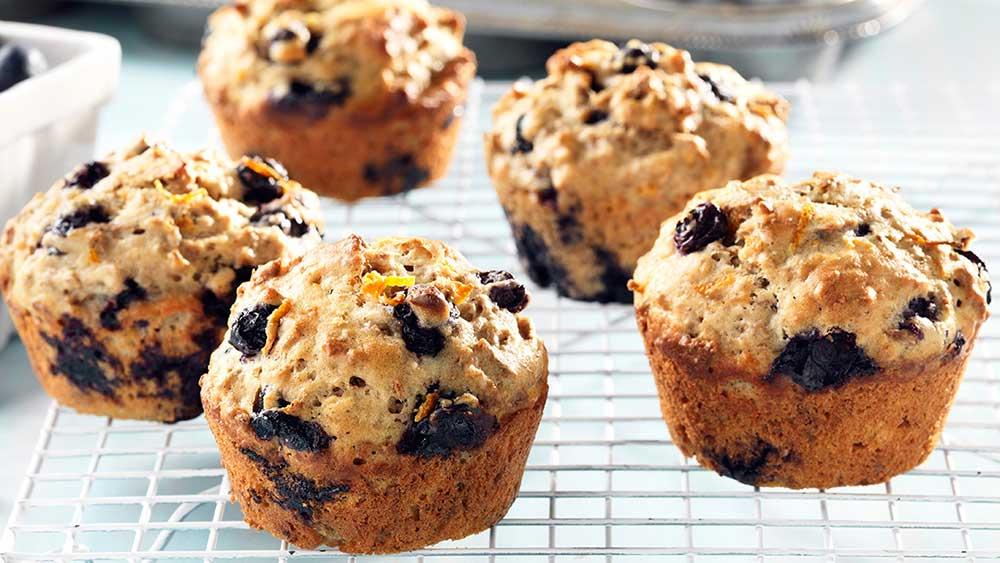 Recipe: Blueberry, Lemon, Pecan, Yogurt Muffins